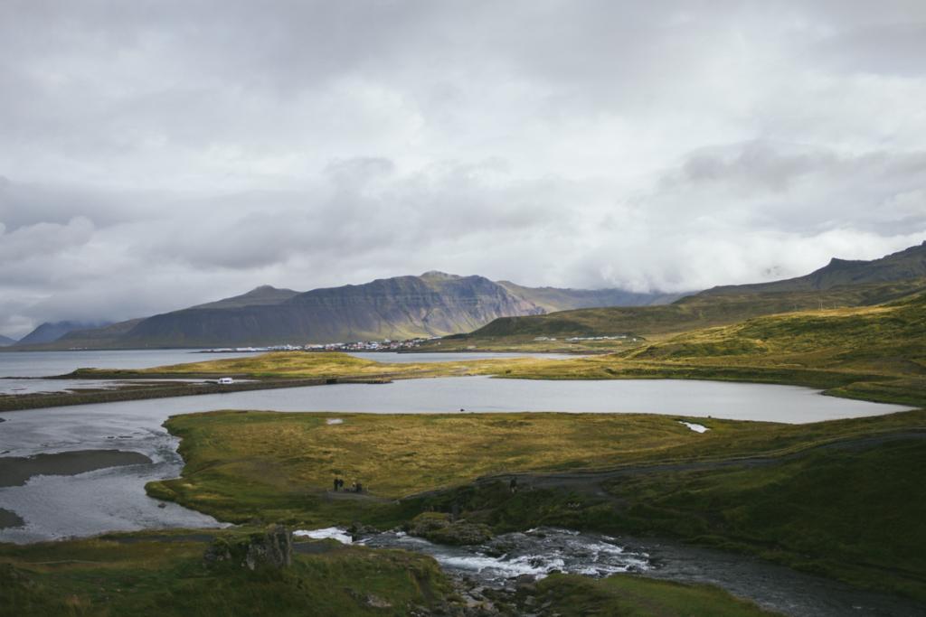 Aussicht Kirkjufellsfoss Snæfellsnes