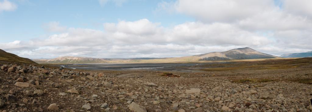 Panorama Landschaft um Hraunfossar