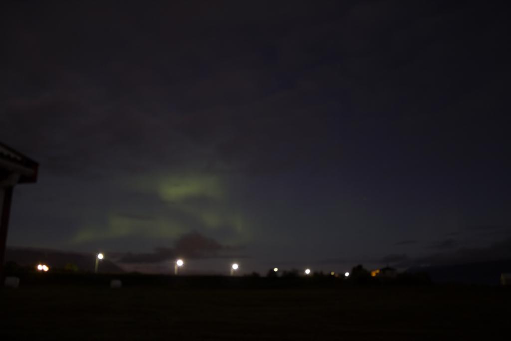 Island verschwommene Nordlichter