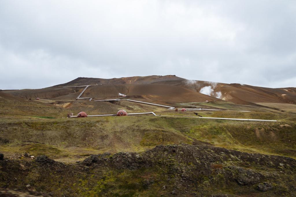 Krafla-Geothermalkraftwerk Island