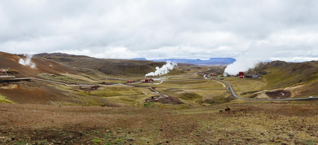 Panorama Krafla-Geothermalkraftwerk Island