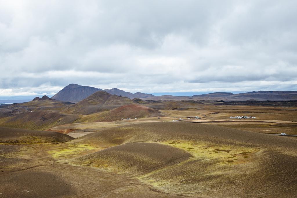 Aussicht Víti Vulkansee Island