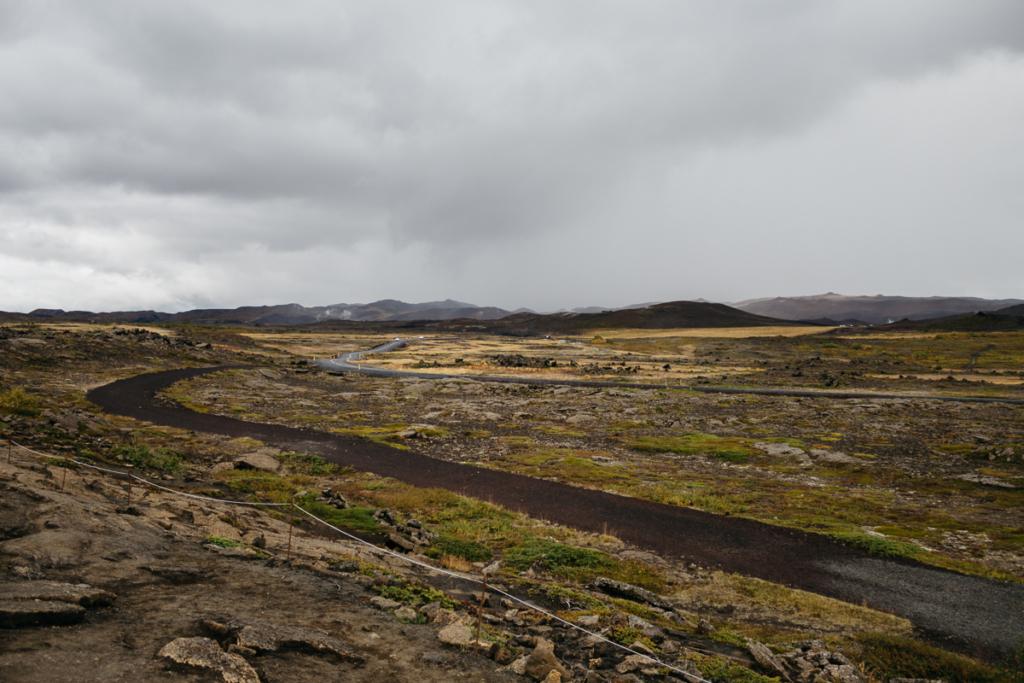 Aussicht Grjótagjá Island