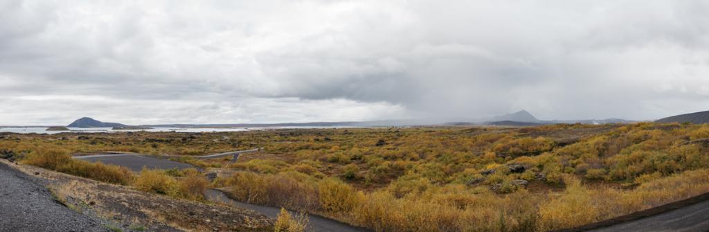 Aussicht Panorama Dimmuborgir Island