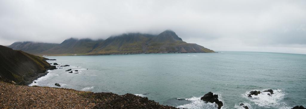 Panorama Fahrt nach Bakkagerði Island
