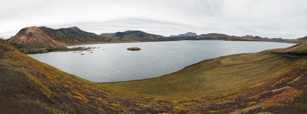 Panorama Fahrt nach Landmannalaugar